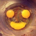 smiling egg yolks